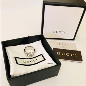 New Authentic Gucci Grande Knot Ring Size 6.5